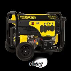 100813R 7500/9375w Champion Generator, Electric Start, With 50AMP- Refurbished
