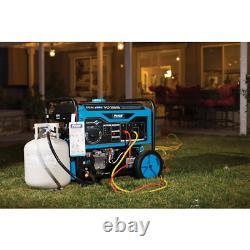 12,000-Watt/9,500-Watt Dual Fuel Gasoline/Propane Powered Electric/Recoil Start
