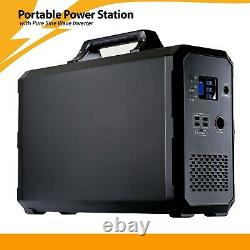 2400Wh Solar Generator For Emergency Power And RV Camping (No Gas, No Fumes)