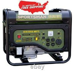 4,000/3,500-Watt Gasoline Powered Portable Generator with RV Outlet Emergency