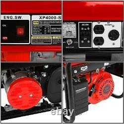 4000W 120V Portable Emergency Gas Generator Engine Recoil Start USA