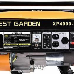 4000W 7.5HP 120V Portable Emergency Gas Generator Engine Recoil Start USA