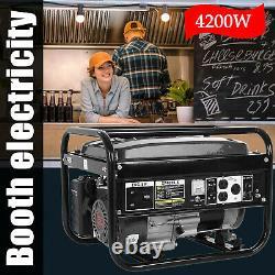 4200 Watt Gas Powered Portable Generator Engine For Jobsite RV Camping Standby
