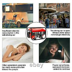 4200W Gas Powered Portable Generator Engine For Jobsite RV Camping Standby USA