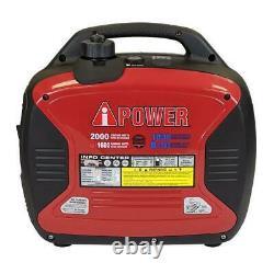 A-IPOWER SUA2000ID 2000Watts Recoil Start Dual Fuel Powered Inverter Generator