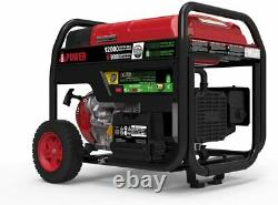 A-iPower 12,000-W Portable Hybrid Dual Fuel Gas Powered Electric Start Generator
