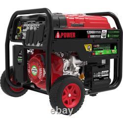 A-iPower 12,000 Watt Dual Fuel Propane/Gas Portable Generator Electric Start