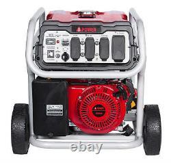 A iPower 12000 Watt Portable Gas Powered Generator with Electric Start & Wheel Kit