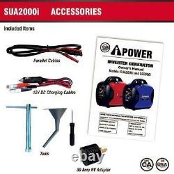 A-iPower 2,000 Watts Portable Inverter Generator Gasoline-Powered SUA2000i