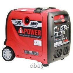 A-ipower 3800 Watt Ultra Quiet Gasoline Portable Inverter Generator SUA3800I