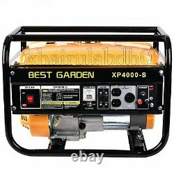 BEST GARDEN Portable 4000W 7.5HP120V Emergency Gas Generator Engine Recoil Start