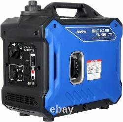 BILT HARD 2000 Watt Portable Quiet Inverter Generator Parallel Ready Gas Powered