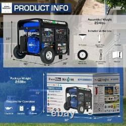 Beast Generator Duromax Portable Hybrid Gas Propane RV Home Standby Backup 20HP