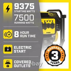 CHAMPION POWER EQUIPMENT Portable Generator 9375/7500-Watt with Electric Start