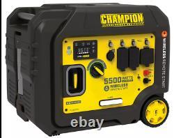 Champion 5500 Watt Inverter Generator Portable Gas SUPER QUIET + Remote Start