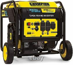 Champion 8,750-W Quiet Portable Gas Powered Inverter Generator with Electric Start