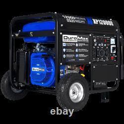 DuroMax XP12000E 12,000-Watt 18 HP Portable Electric Start Gas Powered Generator