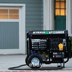 DuroMax XP12000EH 12000-Watt 18 HP Portable Hybrid Gas Propane Generator NEW