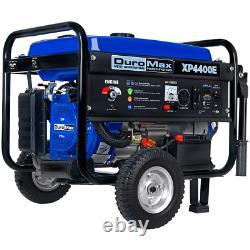 DuroMax XP4400E 4400-Watt 196cc RV Grade Gas Generator Electric Start Wheel Kit
