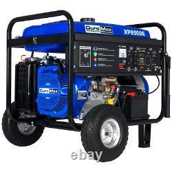 DuroMax XP8500E 8500-Watt 420cc Gas Generator with Elect Start and Wheel Kit