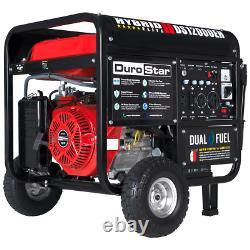 DuroStar DS12000EH 12,000-Watt 18-Hp Portable Hybrid Gas Propane Generator