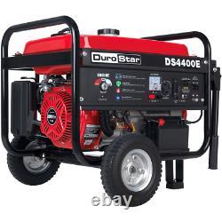 DuroStar DS4400E 4400-Watt 212cc Electric Start OHV Gas Generator withWheel Kit