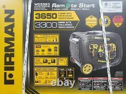 Firman W03383 3650/3300W Remote Start Gas Portable Generator