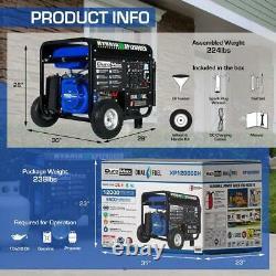 Gas Propane Powered Portable Generator 12k Watts Home Back Up/RV Ready Wheels
