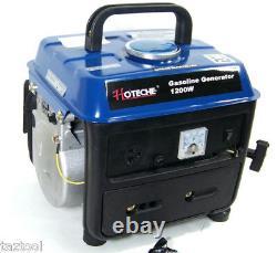 Gasoline Generator Portable Electric Power 1200w Output Voltage 120v/60hz Ac