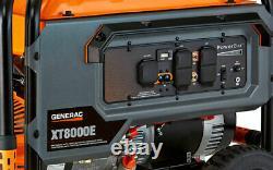 Generac 6433 XT8000E 8,000 Watt Electric Start Portable Generator, 49 ST/CSA