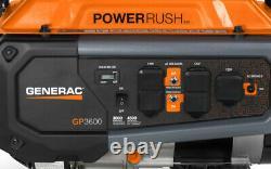 Generac 7677 GP3600 3,600 Watt Portable Generator 4500 Surge W 49 ST / CSA