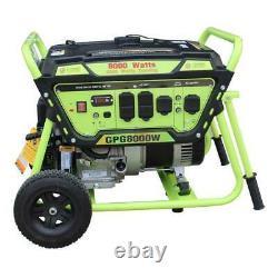 Green-Power America 8000W Portable Gas Powered Generator/Recoil Start GPG8000W