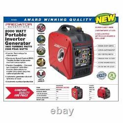 New Predator 2000 Watt Generator Inverter FREE SHIP TO PUERTO RICO