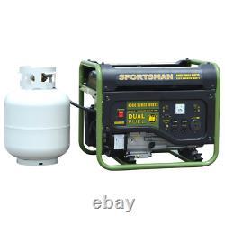 Portable Generator 4,000/3,500-Watt Dual Fuel Powered Runs on LPG or Regular Gas