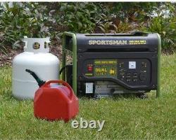 Portable Generator 4,000/3,500-Watt Dual Fuel, Runs on LPG or Regular Gasoline