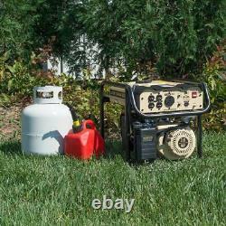 Portable Generator Recoil Start Dual Fuel Outdoor Tailgating RV 4000 Watt