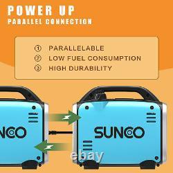 Portable Inverter Generator Quiet 800W Peak 120V Gas-Powered Ultralight Blue
