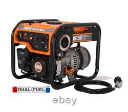 Portable Power Generator Recoil Start Dual Fuel Propane Gasoline 1500-1200-Watt