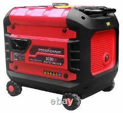 PowerSmart 3,000-W Quiet Portable Gas Powered Inverter Generator Home RV Camping