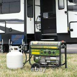 Propane Generator Portable Camp Standby 4000 Camping Quiet LPG Gas RV Outlet