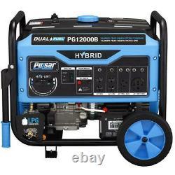 Pulsar 12,000 Watts Dual Fuel Gas/Propane Generator Electric Start PG12000B