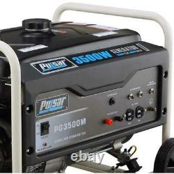 Pulsar 3500 Watts Portable Gas Powered Generator with Mobility Kit PG3500MR