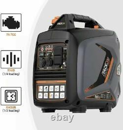 TACKLIFE Inverter Generator, Portable Gas-Power Generator, 2250-Watts, 53dB, 4L