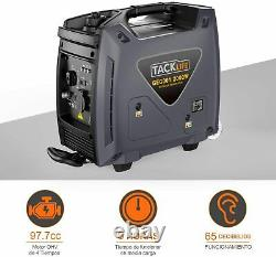 TACKLIFE Portable Inverter Generator, 2000W Outdoor Power Station 4L, 8h, 4 Stro