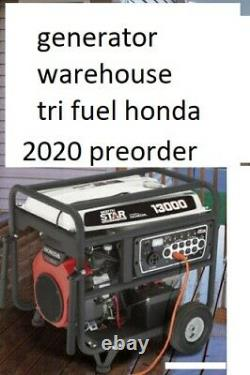 Tri fuel 13000 watts propane natural gas generator new honda engine 13kw massive