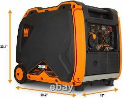 WEN 3,800-W Portable RV Ready Gas Powered Inverter Generator with Electric Start