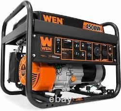 WEN 4,500-Watt Quiet Portable RV Ready Gas Powered Generator Home Backup Camping