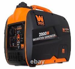 WEN 56200i 79.7cc Gas-Powered Portable Inverter Generator, 2000-watt