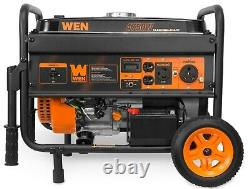 WEN 56475 Generator with Electric Start and Wheel Kit, CARB Compliant, 4750-watt